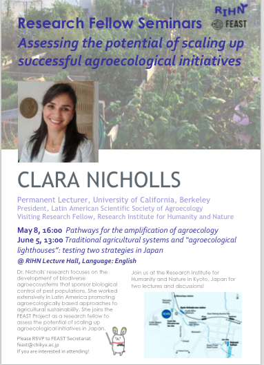 Research Fellow Seminars Assessing the potential of scaling up successful agroecological initiatives -Clara Nicholls