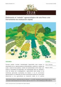 """Boletin #4 de CELIA Estimando el """"estado"""" agroecológico de una finca: una herramienta de evaluación rápida."""